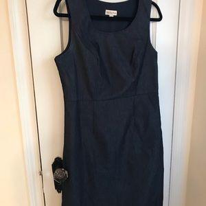 Denim colored sheath dress